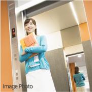 防犯モニター・カメラ・鏡付きエレベーター