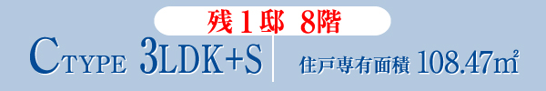 C-TYPE 3LDK+S 住戸専有面積108.47㎡