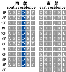 アーデントクレイル山の田本町 D-type 配置図