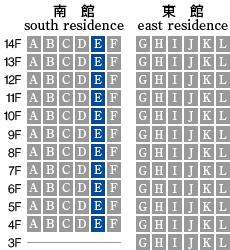 アーデントクレイル山の田本町 E-type 配置図