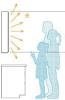 身長による光あたりかた比較