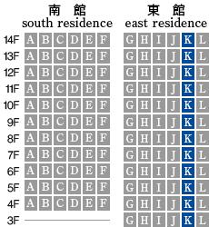 アーデントクレイル山の田本町 K-type 配置図