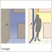 人感センサー付玄関ホール